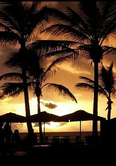 Atardeceres en playa de las canteras (Las Palmas)