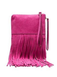 Add a bold twist to your look with our vibrant leather fringe pouch. Perfect for a night on the town or to add a little pop to your casual look   Banana Republic