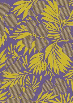 White Ginger Textile Prints by Eloise Rapp, via Behance