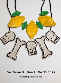 Make Cardboard Beaded Necklaces!