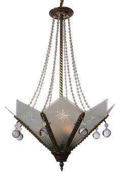 Art Deco Chandelier (=)                                                       …