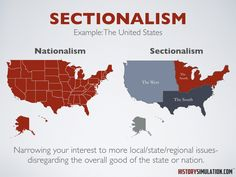 Social Studies Concept: Sectionalism, Narrowing your interest to more local/state/regional issues- disregarding the overall good of the state or nation. Philosophy Theories, History Lesson Plans, Social Order, Common Goal, Total War, Human Behavior, Regional, Social Studies, Study