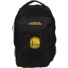 "NBA Golden State Warriors NBA DraftDay Backpack Black, 18"""" School Backpack"