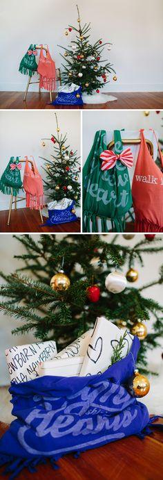 walk in love. / DIY tshirt bag / fringe / last minute gift idea / DIY purse
