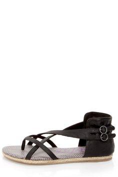 Blowfish | Delray Black Relax Strappy Gladiator Sandals