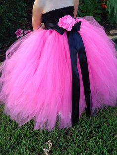 Flowergirl dress but red :) https://www.etsy.com/listing/191789138/pinkalicious-hot-pink-fuchsia-and-black