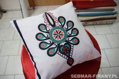 Poduszka dekoracyjna GÓRALSKA 40x40 PARZENICA Embroidery Applique, Embroidery Stitches, Polish Folk Art, Folklore, House Design, Cool Stuff, Modern, Trendy Tree, Architecture Design