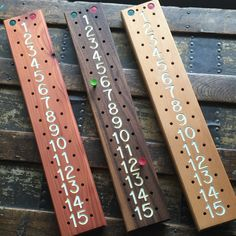 Just posted our bocce scoreboards in our Etsy store!