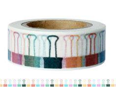Masking Tape - Washi Tape KLAMMERN - ein Designerstück von Fitzi-Floet bei DaWanda