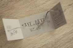 I love.love.love. how our save the date cards turned out! I knew I wanted something organic and unique to reflect our DIY wedding style and this was perfect. Before you go and say how creative I am, I totally got this idea off of Pinterest! The link I originally saw was: 'Tie the Knot' Save the Date…