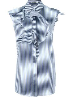 Shop Jil Sander striped ruffled shirt in Ottodisanpietro from the world's best independent boutiques at farfetch.com. Shop 400 boutiques at one address.