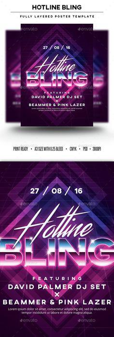 Hotline Bling Poster Template PSD. Download here: http://graphicriver.net/item/hotline-bling-poster-template/15421053?ref=ksioks