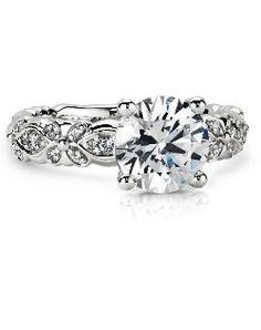 Blue Nile 19824 19824 Engagement Ring and Blue Nile 19824 19824 Wedding Ring