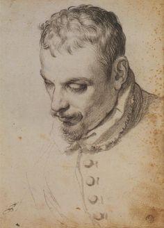"bloghqualls: "" Artist: Agostino Carracci (1560-1609) - Portrait of a Man, Possibly Annibale Carracci. """