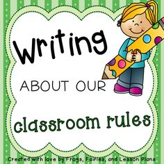 Freebie! After going over your classroom rules, have your students write and illustrate examples of themselves following the rules!