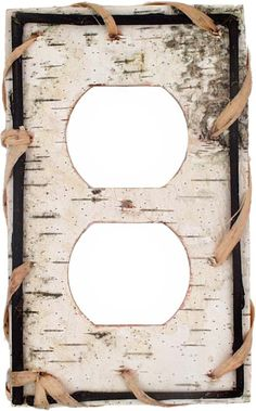 Birch Bark Light Switch Plates, Outlet Covers, Wallplates