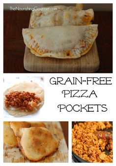 "Grain-Free Pizza ""Pockets"" - These are so fun, are portable, and freeze great as well!"
