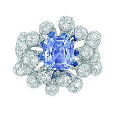 Sapphire diamond ring by Dior