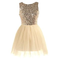 Glow Forth Dress ($120) ❤ liked on Polyvore featuring dresses, vestidos, ballerina dress, beige dress, mesh cocktail dress, mesh dress y sequin dress