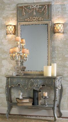Leuk die lampen naast de spiegel