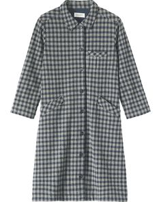 Marisa check shirt dress - Toast