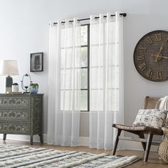 Shop for Archaeo Slub Textured Linen Blend Grommet Top Curtain. Get free delivery On EVERYTHING* Overstock - Your Online Home Decor Outlet Store! Ivory Curtains, Cool Curtains, Beautiful Curtains, Window Curtains, Curtain Styles, Cosy Corner, Home Decor Outlet, House, Furniture