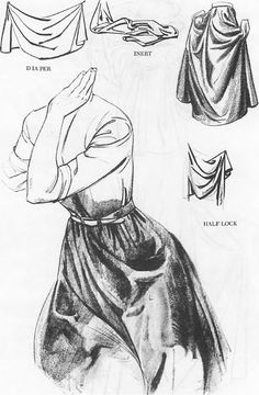 Drawing Clothing Folds & Drapery Wrinkles with Folding and Shadows of the Rolls Drawing Tutorials for Cartoons & Illustrations Drapery Drawing, Fabric Drawing, Fabric Painting, Anatomy Drawing, Manga Drawing, Figure Drawing, Drawing Lessons, Drawing Techniques, Drawing Tips