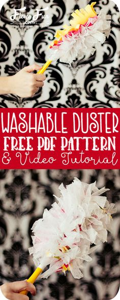 This easy to sew washable duster tutorial uses a combination of fleece and used dryer sheets. Reusable and upcycled DIY! Such a great idea.