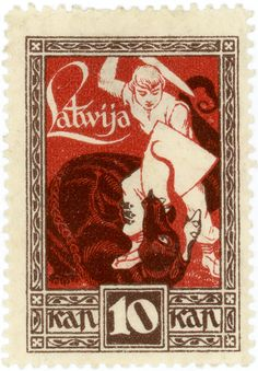 latvia - dragon - 1919.