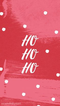 ho ho ho red holiday christmas background wallpaper you can download for free on the blog! For any device; mobile, desktop,