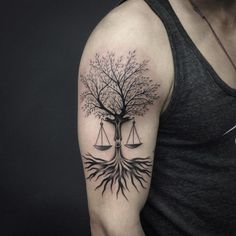 Tree of life/Libra scale tattoo idea