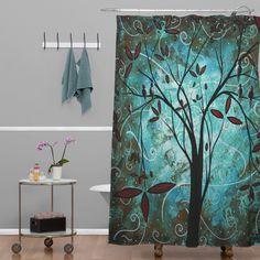 Madart Inc. Romantic Evening Extra Long Shower Curtain