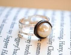 Pearl Ring by KellyStahley on Etsy, $14.00