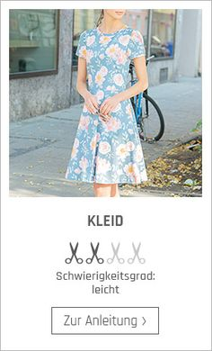 Sew dress - free sewing instructions- Kleid nähen – kostenlose Nähanleitung Sewing instructions for clothes – free instructions at Stoffe. Belted Shirt Dress, Tee Dress, Free Clothes, Diy Clothes, Diy Kleidung, Casual Dresses, Summer Dresses, Free Sewing, Outfits For Teens