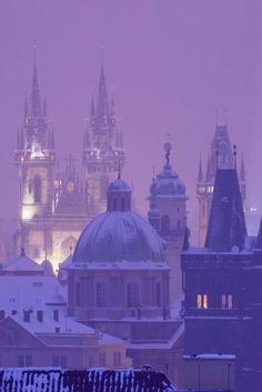 Continental Europe, Prague Czech Republic, Wonderful Places, Beautiful Places, Winter Scenery, Winter Wonder, Central Europe, City Break, Black Forest