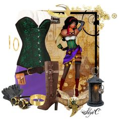 """Esmeralda - Steampunk - Dsney's Hunchback of Notre-Dame"" by rubytyra on Polyvore"