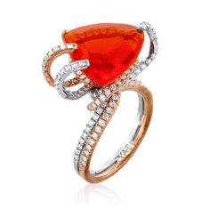 Yael Fire Opal Ring via @Alea Moore Moore Magazine  Not this setting, but definitely this stone!!