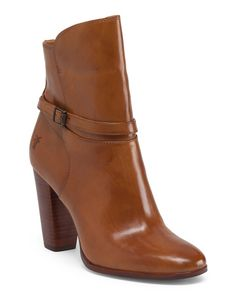 Leather+Zip+Ankle+Bootie