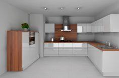 Znalezione obrazy dla zapytania meble kuchenne białe z drewnem