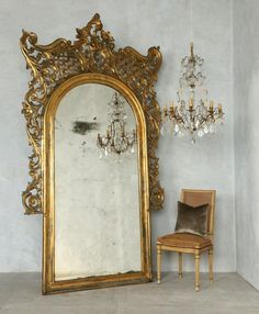 Chateau Gilt Mirror....to die for!FrenchGardenHouse.com