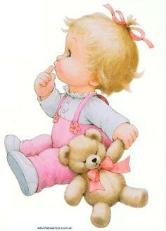 Dibujos. Clipart. Digi stamp - Baby - Ruth Morehead