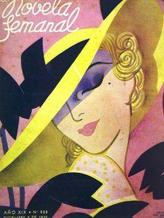 Orione Novela Femanal PINK LADY1935 Deco Cover Matted #ArtDeco