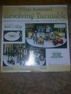 Department 56 Heritage Village Christmas Village Animated Revolving Turntable | eBay