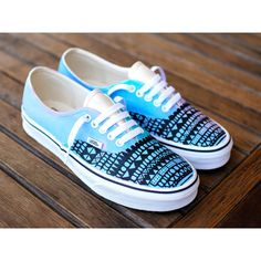 These one-of-a-kind hand-painted Authentic Vans have been painted pastel colors. A black tribal design has been painted over the pastel colors giving this whim…