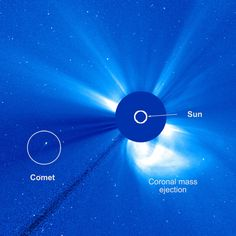 An unusual comet skimmed past the sun on February 18-21, 2015, as captured by the European Space Agency (ESA) and NASA's Solar and Heliospheric Observatory, or SOHO. - Read more: http://scitechdaily.com/unusual-comet-skimmed-past-sun/