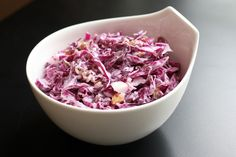 Sweet and Tangy Red Cabbage Slaw with Raisins and Pecans
