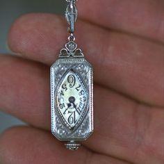 Tiffany Diamond Pendant Watch