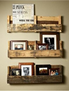 more pallet bookshelves - these are so perfect.