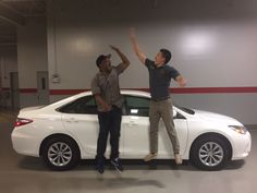 These fantastic fellas are the proud owners of two fantastic Toyotas! Thanks for choosing Ardmore Toyota, guys!