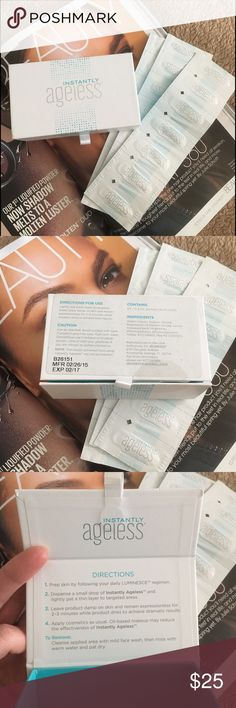 Instantly Ageless Instant Wrinkles Eraser Instantly Ageless by Jeunesse Instant Wrinkles Eraser 0.3 ml Satchels 14 count. It has a temporary Botox effect by erasing fine lines and under eye puffiness. If you follow directions on how to use it correctly you will get dramatic results. It is 100% authentic, was purchased directly from Jeunesse company representative. Please note that expiration date is 02/17 and it is priced to sell accordingly. Will ship the same or next day! Gift with the…